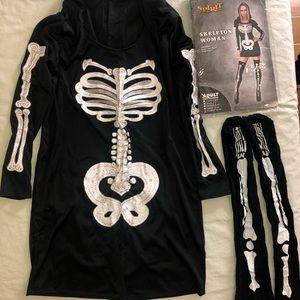 Plus Size Skeleton Woman Costume